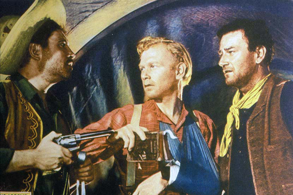 Fotograf Harry Carey Jr., John Ford, John Wayne, Pedro Armendariz