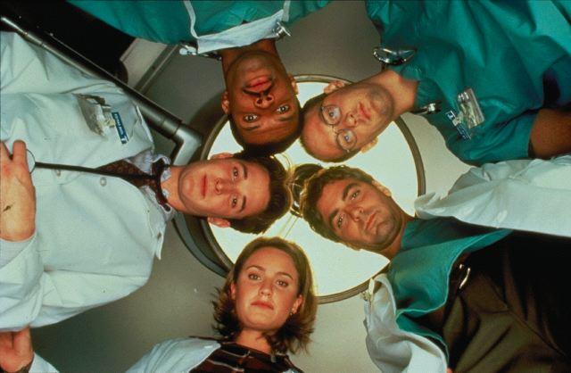 ER : Fotograf Anthony Edwards, Eriq La Salle, George Clooney, Noah Wyle, Sherry Stringfield