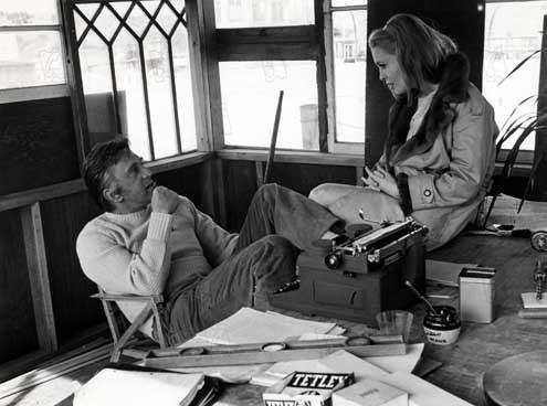 Fotograf Elia Kazan, Faye Dunaway, Kirk Douglas