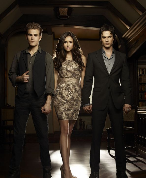 The Vampire Diaries : Fotograf Ian Somerhalder, Nina Dobrev, Paul Wesley