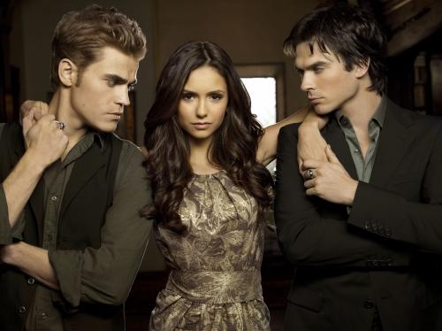 The Vampire Diaries : Fotograf Ian Somerhalder, Nina Dobrev, Paul Wesley