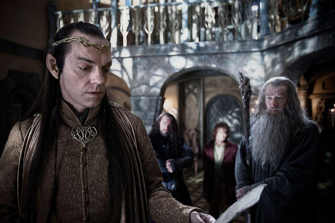 Hobbit: Beklenmedik Yolculuk : Fotograf Hugo Weaving, Ian McKellen
