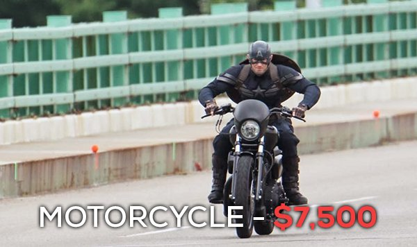 Motosiklet - 7 bin 500 dolar