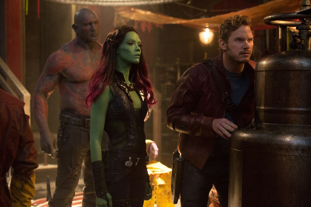 Galaksinin Koruyuculari : Fotograf Chris Pratt, Dave Bautista, Zoe Saldana