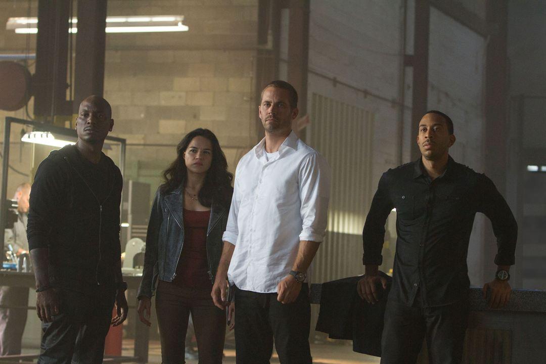 Hizli ve Öfkeli 7 : Fotograf Ludacris, Michelle Rodriguez, Paul Walker, Tyrese Gibson