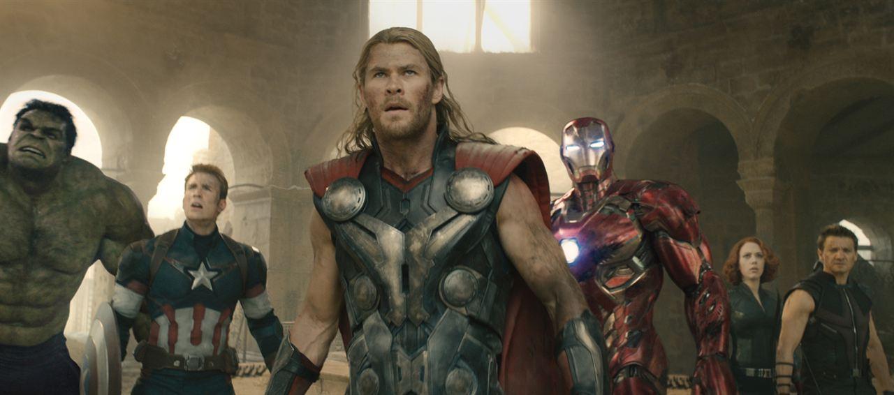 Yenilmezler: Ultron Çagi : Fotograf Chris Evans, Chris Hemsworth, Jeremy Renner, Scarlett Johansson