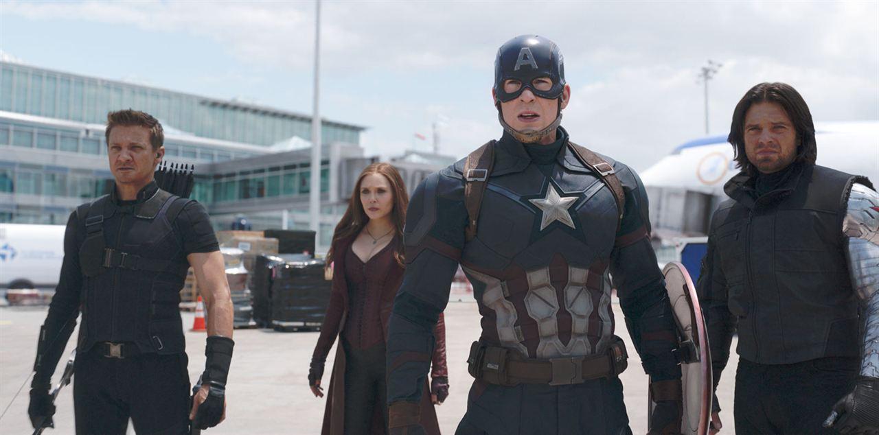 Kaptan Amerika: Kahramanlarin Savasi : Fotograf Chris Evans, Elizabeth Olsen, Jeremy Renner, Sebastian Stan