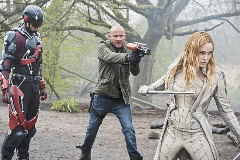 Fotograf Brandon Routh, Caity Lotz, Dominic Purcell