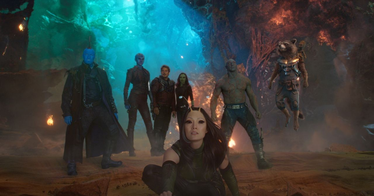 Galaksinin Koruyuculari 2 : Fotograf Chris Pratt, Dave Bautista, Karen Gillan, Michael Rooker, Pom Klementieff
