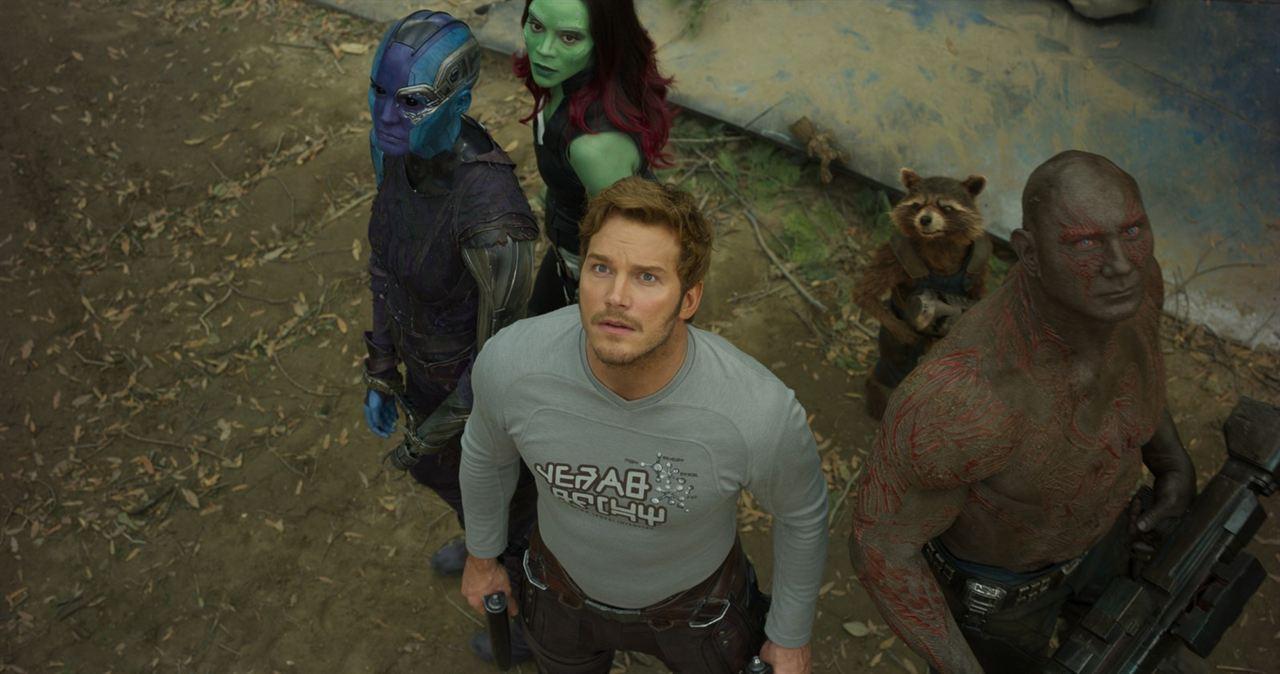 Galaksinin Koruyuculari 2 : Fotograf Chris Pratt, Dave Bautista, Karen Gillan, Zoe Saldana