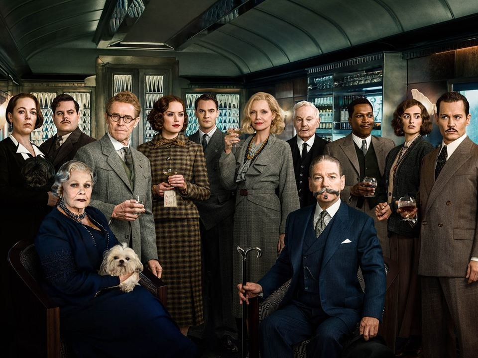 Dogu Ekspresinde Cinayet : Vignette (magazine) Daisy Ridley, Derek Jacobi, Johnny Depp, Josh Gad, Judi Dench
