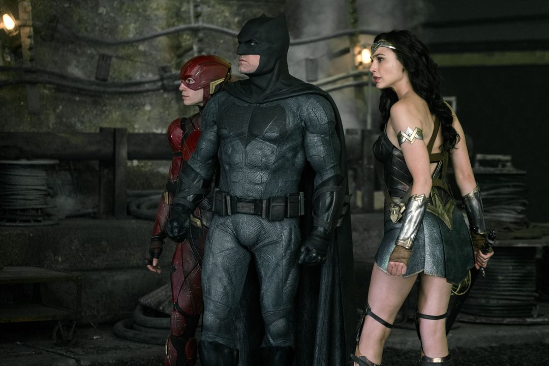 Justice League: Adalet Birligi : Fotograf Ben Affleck, Ezra Miller, Gal Gadot