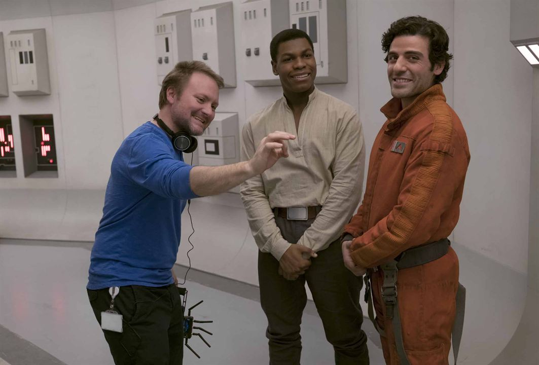 Star Wars: Son Jedi : Fotograf John Boyega, Oscar Isaac, Rian Johnson