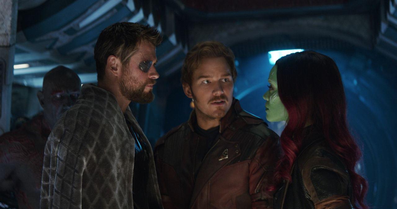 Avengers: Sonsuzluk Savasi : Fotograf Chris Hemsworth, Chris Pratt, Zoe Saldana