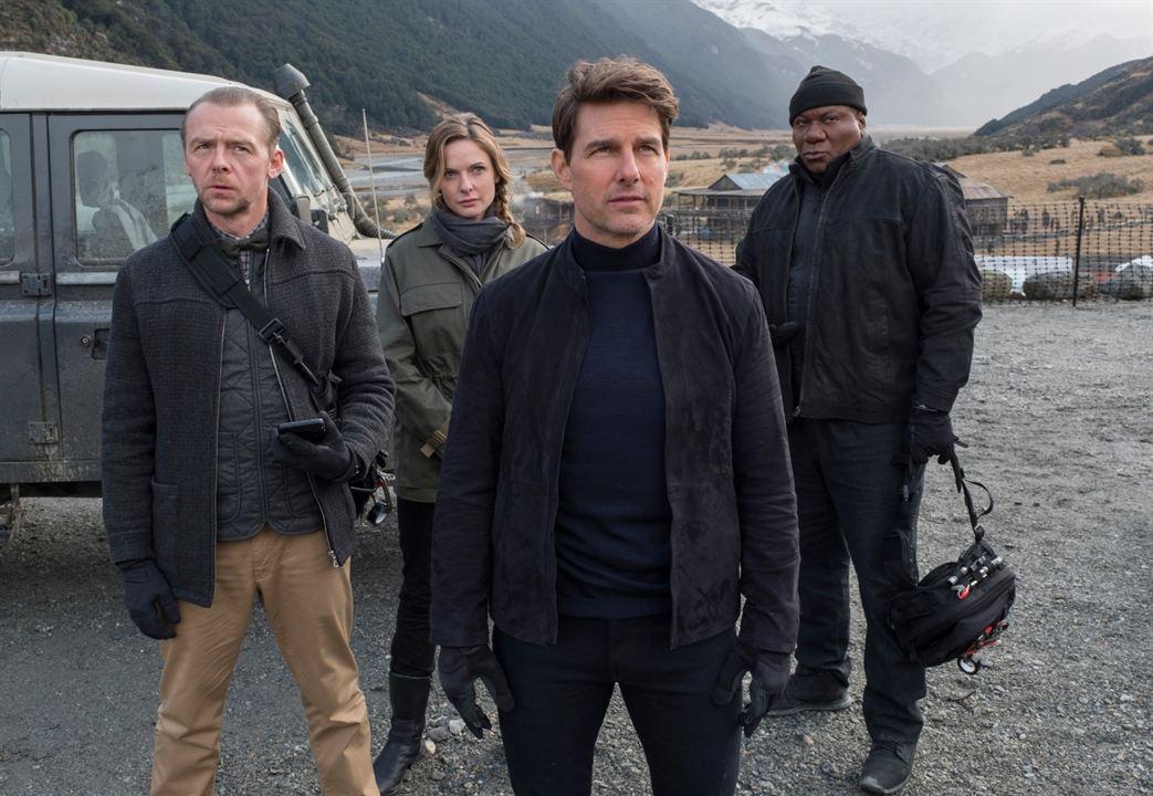 Mission: Impossible Yansimalar : Fotograf Rebecca Ferguson, Simon Pegg, Tom Cruise, Ving Rhames