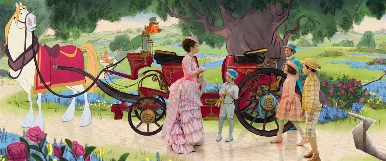 Mary Poppins: Sihirli Dadi : Fotograf Emily Blunt, Joel Dawson, Lin-Manuel Miranda, Nathanael Saleh, Pixie Davies