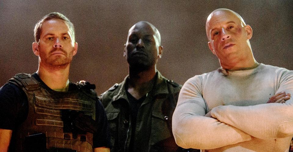 Hizli ve Öfkeli 7 : Fotograf Paul Walker, Tyrese Gibson, Vin Diesel