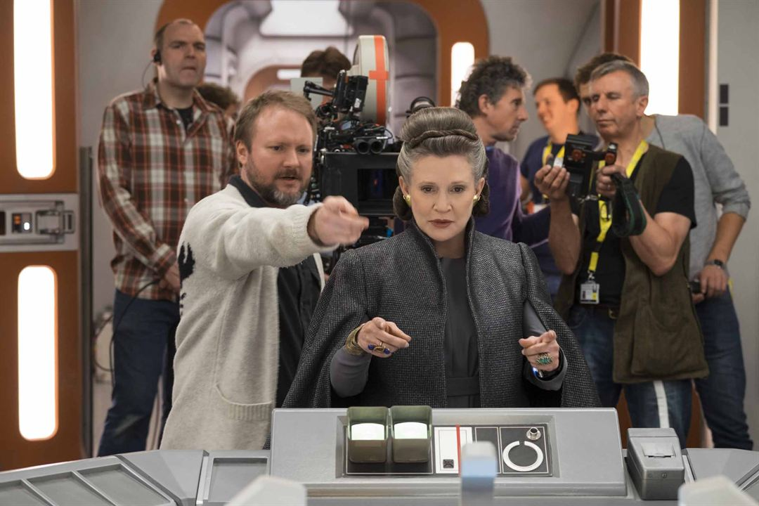 Star Wars: Son Jedi : Fotograf Carrie Fisher, Rian Johnson