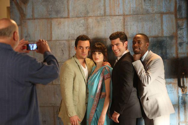Fotograf Jake Johnson (XVI), Lamorne Morris, Max Greenfield, Zooey Deschanel